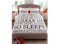 Mine and Yours Duvet Set (Double £12 , Kingsize £15)