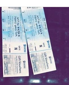 2 hard copy Justin Bieber tickets Newcastle Newcastle Area Preview