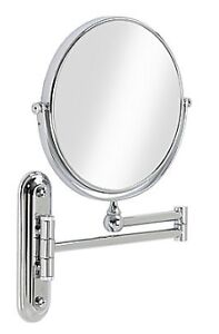 """8"""" Magnifying Wall Mount Mirror, Chrome"""