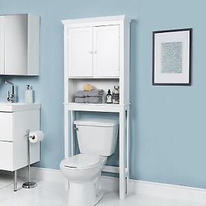 Tivoli Wood Over The Toilet Cabinet (White)
