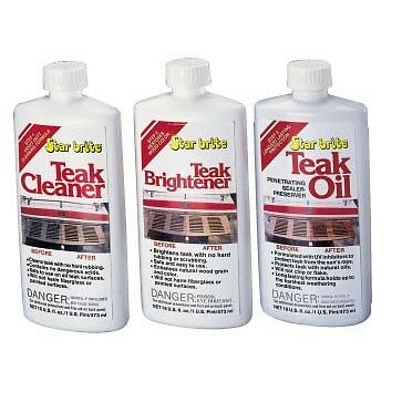 STAR BRITE Boat Marine Wood TEAK CARE KIT : Contains Cleaner, Brightner & Oil! ()