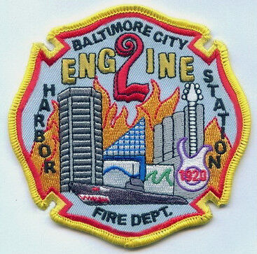 """""""NEW"""" Maryland Baltimore City Fire Department Engine 2 Unit Patch"""