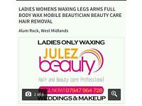 Ladies only waxing.