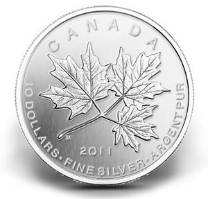 2011 $10 Maple Leaf Forever - Pure Silver Coin