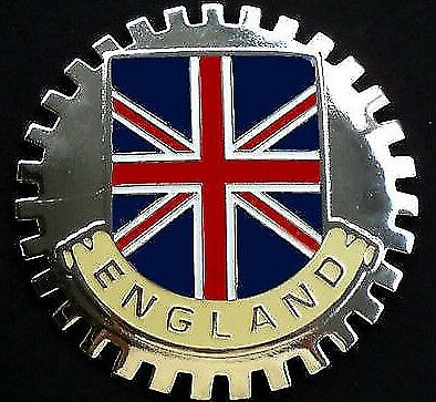 Badges & Mascots Supply Gb Union Jack Car Grille Badge Vehicle Parts & Accessories Free Fixings