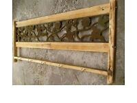 Vintage Cast Iron Rustic Kitchen Wall Mounted Hanging Rack