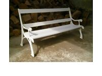 Rare Children's Cast Iron Garden Bench