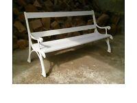 Rare Children's Cast Iron Garden Bench