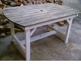 Large Heavy Duty Vintage Solid Outdoor Garden Table