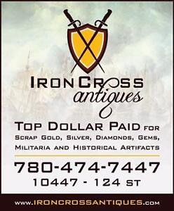 We purchase Military & historical artifacts, maps, photo's, medals etc.