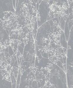 graue tapete mit blumen - Tapete Grau Beige