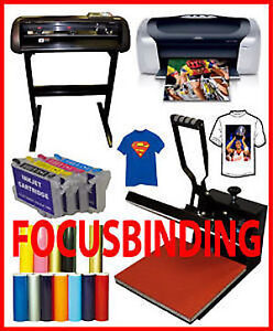 "15x15 Heat Press,24"" 1000g Metal Plotter Vinyl Cutter,Printer Pk"
