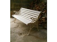 Heavy Duty Cast Iron Park Bench / Garden Bench / Conservatoire or Patio Bench