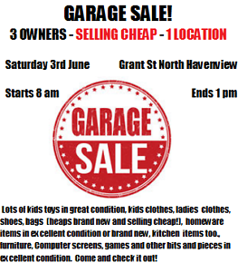 HUGE 3 FAMILIES GARAGE SALE IN HAVENVIEW 3RD JUNE Burnie Burnie Area Preview