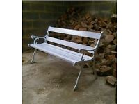 Lovely Cast Iron Park Bench / Garden Bench