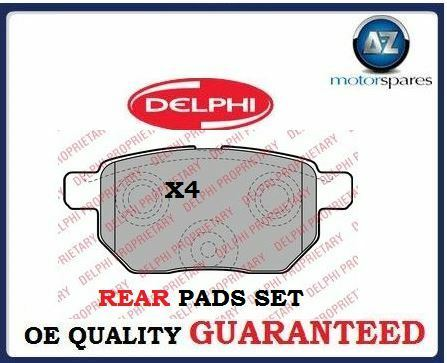 FOR LEXUS CT200 HYBRID 1.8i VVTi 2010--> NEW REAR BRAKE DISC PADS SET