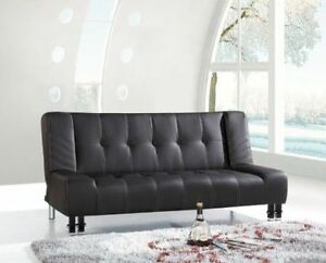 BRAND NEW LEATHER CLICK CLACK - SOFA BED FREE DELIVERY!!!