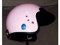 Retro open face cromwell motor cycle helmet