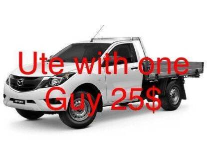 UTE HIRE WITH ONE MAN 25$