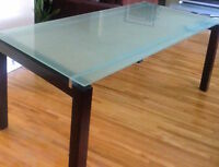$199 structube glass top dinning table + 4 Ikea chair