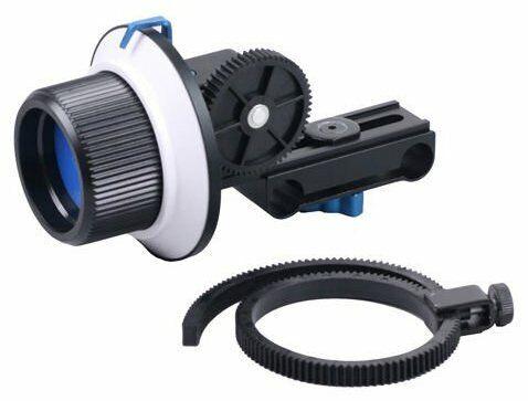 Opteka FF180 Reversible Follow Focus 15mm Rod Compatible for Digital Cameras