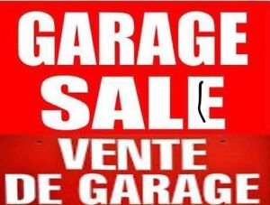Vente de garage!!!  + vide dressing  de copines !