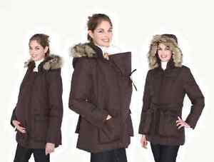 M coat 3 in 1 manteau maternité portage martenity baby wearing