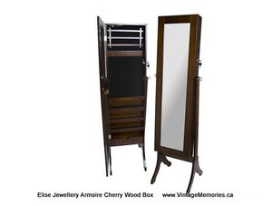 Brand New, LG Wooden Jewelry Cabinet with Full Size Mirror Sale