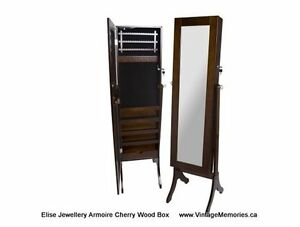 Brand new Large Elise Jewellery Armoire Cabinet with Mirror
