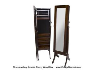 Brand New Large wooden mirror jewellery jewelry cabinet On Sale