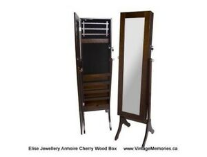 Brand New Large wooden mirror jewellery cabinet with locker Sale