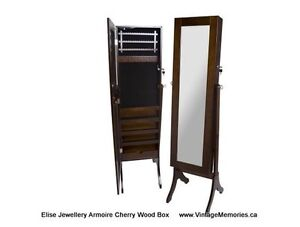 Brand New LG Jewellery mirror wooden Armoire Chery black On Sale
