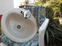 New sink, never been used. plumbing incl. $15