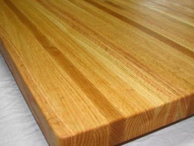 "24"" Solid Oak Edge Grain BUTCHER BLOCK   counter top    table top   18x24x1.25"