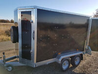 Karting Box Trailer Tickners GT 7' x 5' x 5' in Black with Barn Doors
