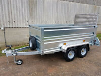 Tickners Versa 8' x 4' General Purpose Trailer with High Sides and Ramp