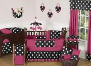 Pink Black Baby Bedding