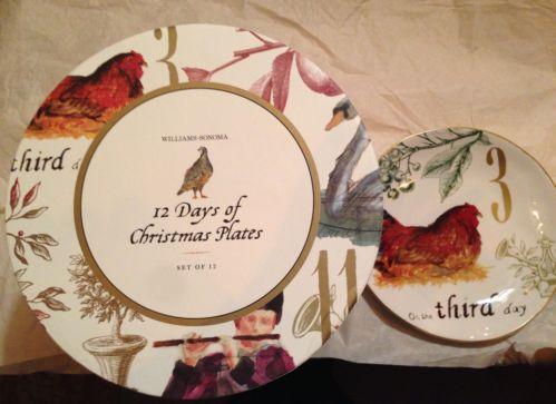 Williams Sonoma 12 Days Of Christmas Plates Ebay