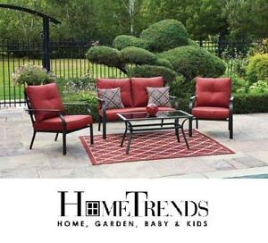NEW HOMETRENDS CONVERSATION SET - 131267727 - MONTCLAIR 4-PIECE