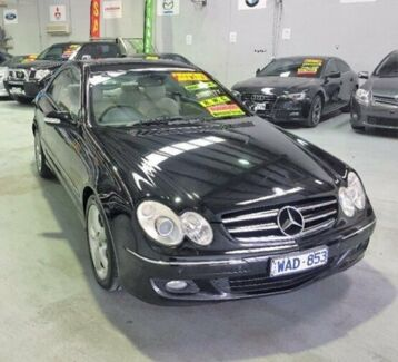 2005 Mercedes-Benz CLK280 C209 MY06 Avantgarde Black 7 Speed Automatic Coupe Southbank Melbourne City Preview