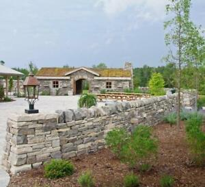 Build limestone wall, raised bed or fire pit yourself hassle-free! Spend your time on design and not on stone leveling!