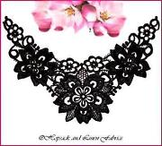 Black Lace Applique