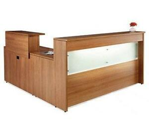 Reception Desk and Return with Filing drawers in laminate