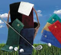 "100% Terry Velour Cotton GOLF Towel,16"" x 25"""