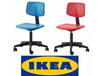 Ikea Alrik Computer Chairs Blue and Red