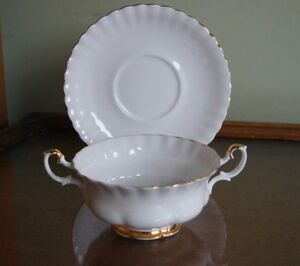 Wedgewood Val dor Cream soup bowl and saucer