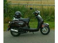 Maroon Sachs Bee 125moped for sale