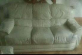 3 seater cream leather sofa. Need gone asap!
