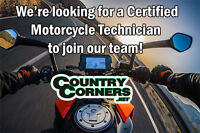 Certified Motorcycle Mechanic needed to join our team