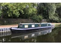 50ft Narrow boat House Boat - EAST LONDON, SURVEYED, HULL BLACKED, ENGINE SERVICED